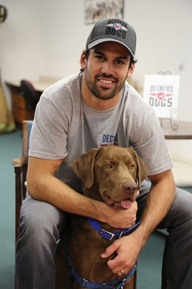 Eric Decker and Deckers Dogs team with Veterinary Pet Insurance