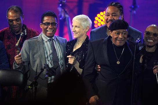 Celebrating International Jazz Day 2015: Femi Kuti, Herbie Hancock, Annie Lennox, James Genus, Al Jarreau and Dee Dee Bridgewater.