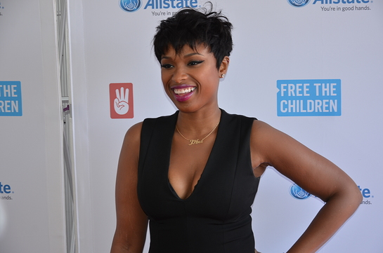 Jennifer Hudson on the red carpet at We Day Illinois