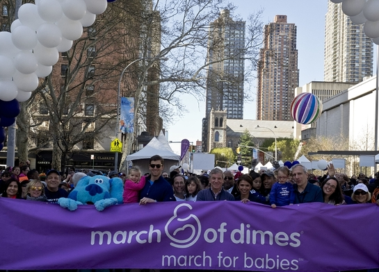 Eli Manning Leads March for Babies(R) in New York City