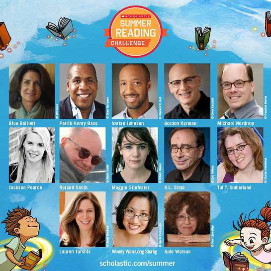 13 favorite children's authors have written original short stories that kids can unlock as rewards in this year's Scholastic Summer Reading Cha