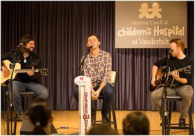 SCOTTY McCREERY PERFORMS AT MONROE CARELL JR. CHILDREN'S HOSPITAL AT VANDERBILT