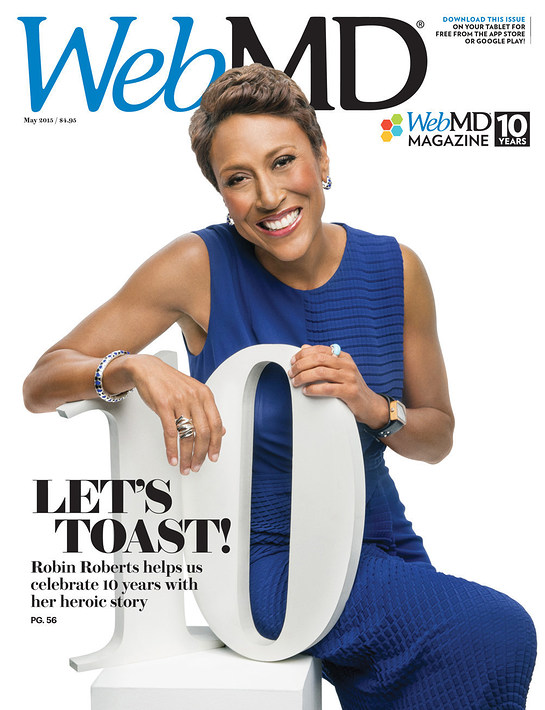 Robin Roberts on the cover of WebMD
