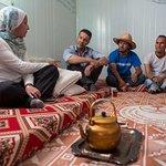 UNHCR Goodwill Ambassador Khaled Hosseini Visits Refugees In Jordan