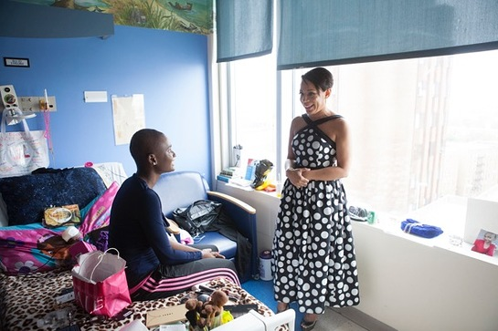 Selenis Leyva At The Children's Hospital at Montefiore