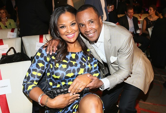 Laila Ali and Sugar Ray Leonard