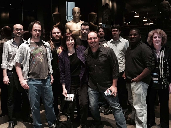 Exceptional Minds young adults at cast and crew screening of Avengers: Age of Ultron