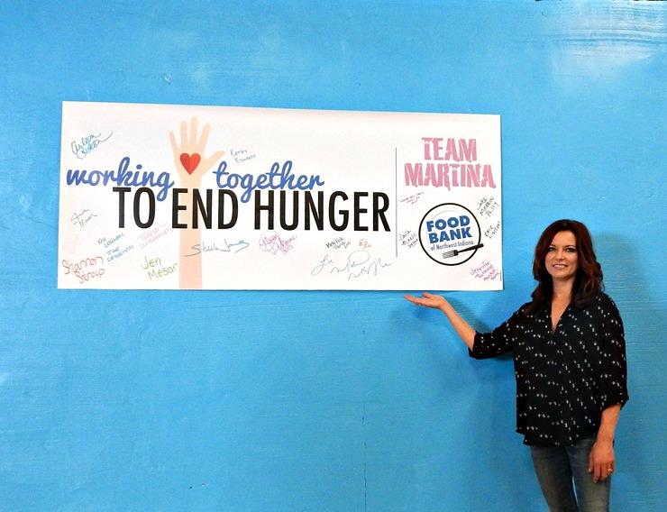 Martina McBride And Team Martina Visit Food Bank of Northwest Indiana