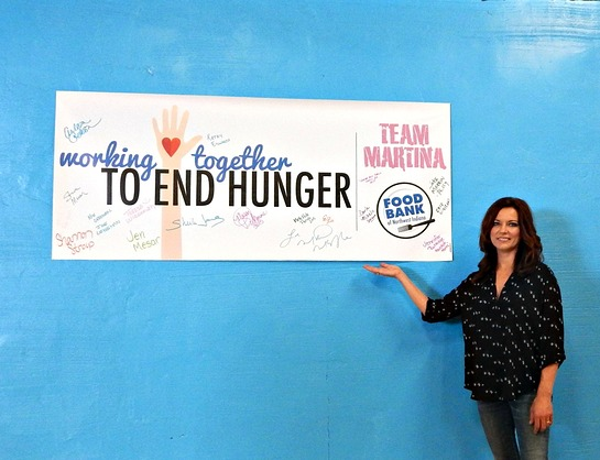 Martina McBride And Team Martina Visit Food Bank of Northwest Indiana