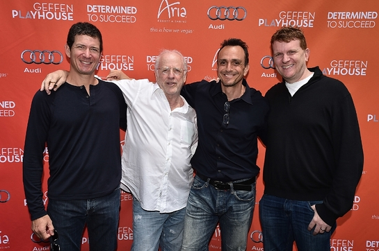 Pictured (L-R) Jerry Greenberg, Bruce Stern, Hank Azaria, Gil Cates Jr.