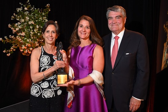 Melinda Gates was in attendance to receive the 2015 Spirit of Helen Keller Award