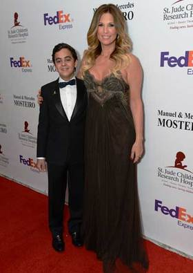 Gala co-founder Daisy Fuentes and patient Stephan