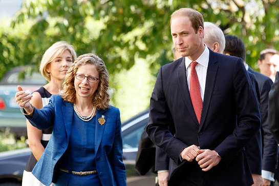 The Duke of Cambridge is welcomed to Gland by IUCN Director General Inger Andersen