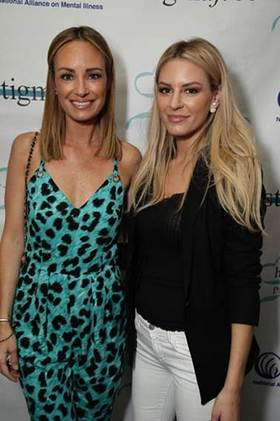 Catt Sadler showing Morgan Stewart support at the NAMI hope & grace lunch