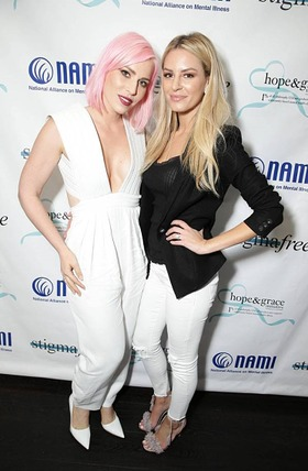 Natasha Bedingfield and Morgan Stewart at the NAMI #stigmafree lunch sponsored by hope & grace fund