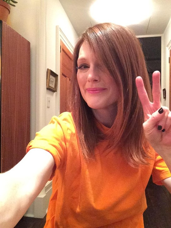 Julianne Moore Wears Orange