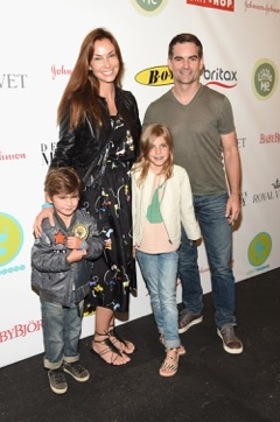 Jeff Gordon, Ingrid Vandebosch and Family