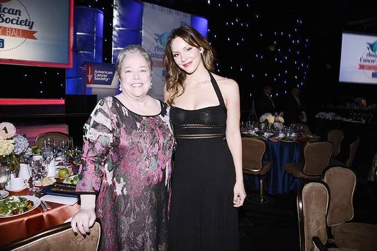 Kathy Bates and Katharine McPhee attend the American Cancer Society's Birthday Ball