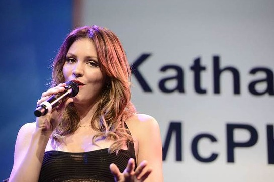 Katharine McPhee performs at the American Cancer Society's Birthday Ball