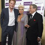 Prince Harry Meets Lady Gaga And Tony Bennett At Charity Concert