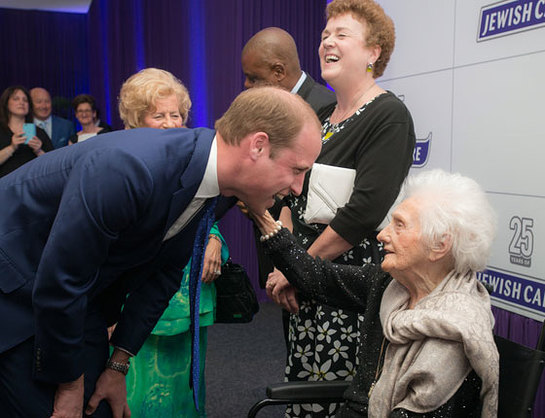 The Duke of Cambridge meets beneficiaries of Jewish Care' services at the 25th anniversary dinner