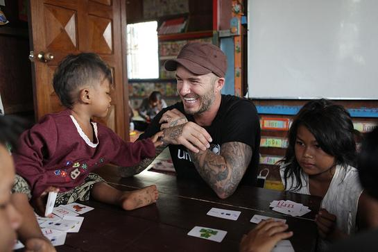 David Beckham In Cambodia With UNICEF