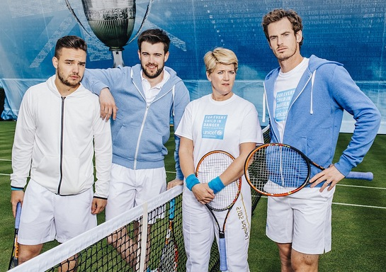 Andy Murray, One Direction's Liam Payne, comedian Jack Whitehall and broadcaster Clare Balding