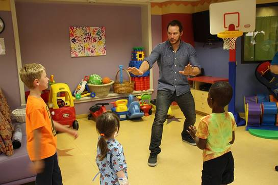 Chris Pratt Brings Jurassic World To Our Lady Of The Lake Children's Hospital