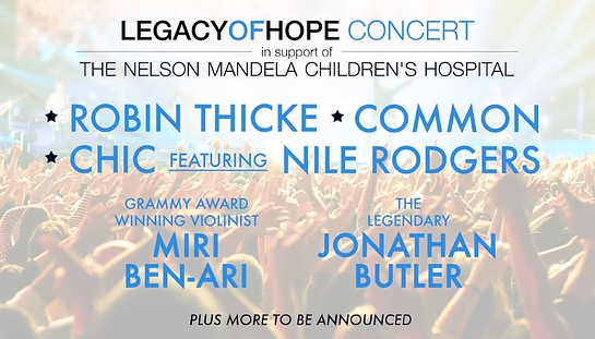 Robin Thicke, Common and Nile Rodgers to Perform at the Legacy of Hope Foundation Concert