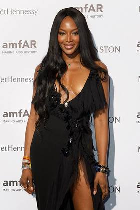 Naomi Campbell at amfAR Paris Event