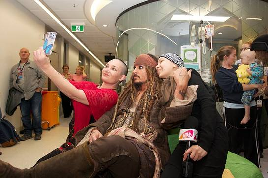 Johnny Depp Visits Lady Cilento Children's Hospital