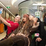 Johnny Depp Visits Children's Hospital In Australia Dressed As Captain Jack Sparrow