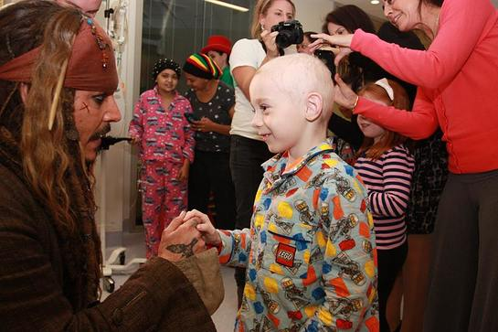 Captain Jack Sparrow Brings Joy To The Lady Cilento Children's Hospital