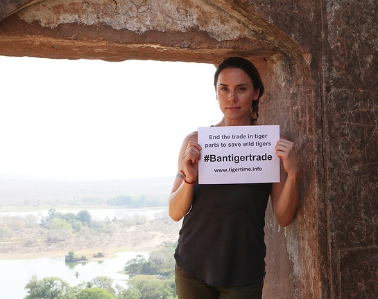 Mel C in India With TigerTime