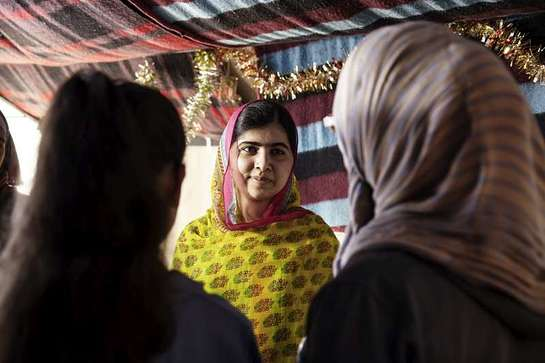 Malala Yousafzai celebrates her 18th birthday in Lebanon with Syrian refugees