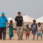 Eddie Izzard Visits Child Refugees In Djibouti