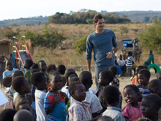 Roger Federer In Malawi