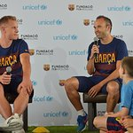 FC Barcelona Players Meet With Los Angeles Kids To Discuss Values