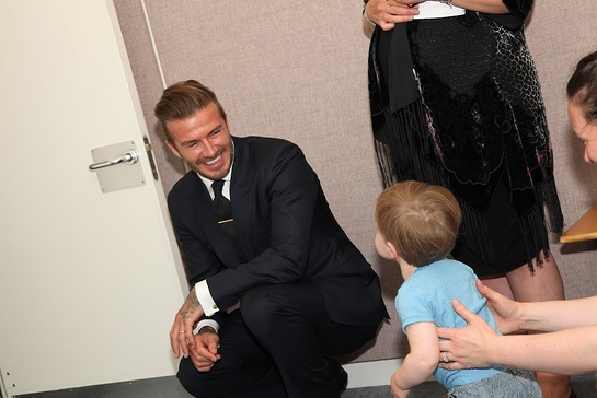 David Beckham Visits Nordoff Robbins