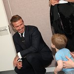 David Beckham Visits Music Therapy Charity