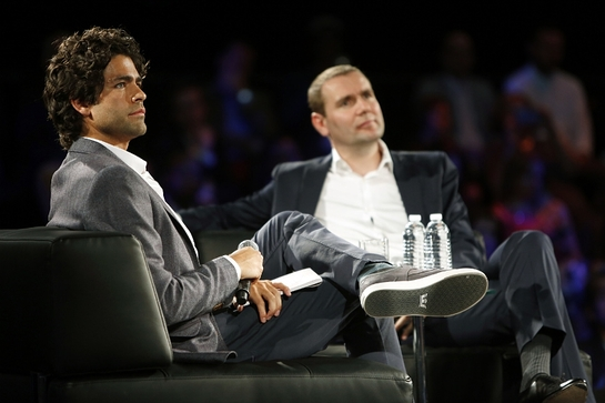 Adrian Grenier and Pernod Ricard Chairman and CEO Alexandre Ricard