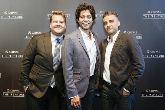 James Corden, Adrian Grenier and Oscar Isaac at The Venture