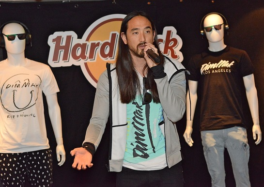 Steve Aoki unveils memorabilia donated from his personal reserve and discusses his partnership with Hard Rock International and his work with the Steve Aoki Charitable Fund