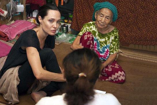 Angelina Jolie Pitt in Myitkyina township, Kachin State, Myanmar