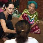 Angelina Jolie Visits Displaced People In Myanmar's Kachin State