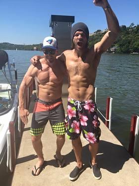 Jared Padalecki and Stephen Amell Go Shirtless