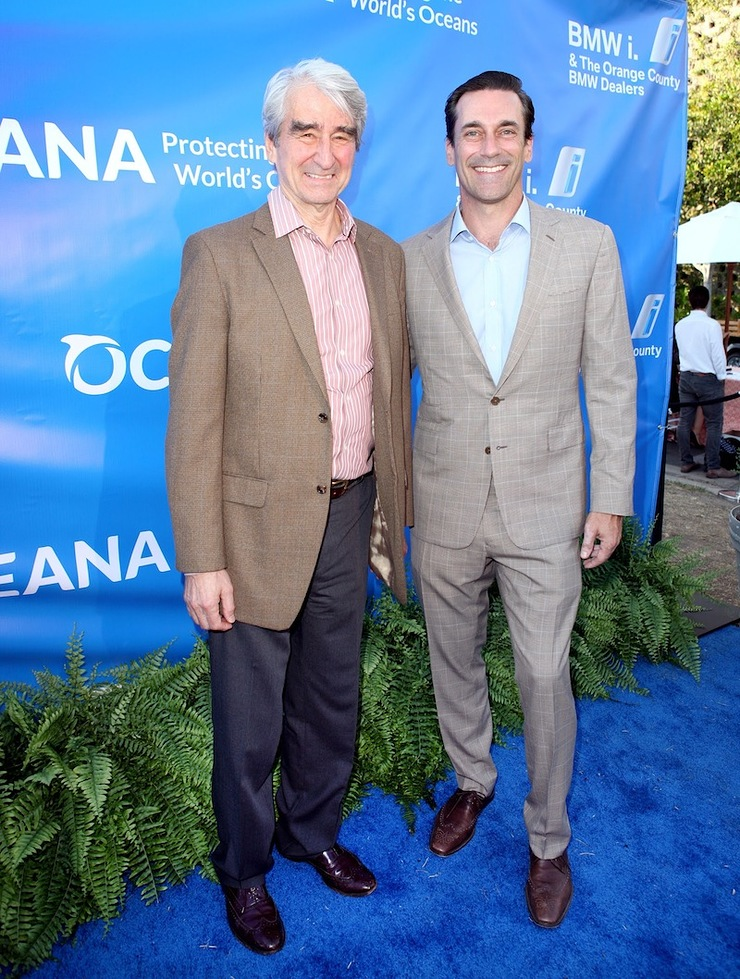 Jon Hamm and Sam Waterston