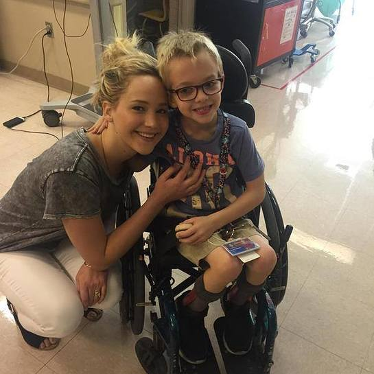 Jennifer Lawrence Visits Shriners Hospitals For Children In Canada