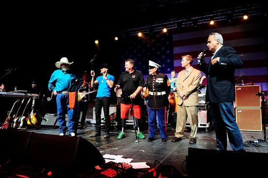 Anthony Imperato presents Henry Golden Boy Military Service Tribute Rifles to War Heroes at the Charlie Daniels Volunteer Jam