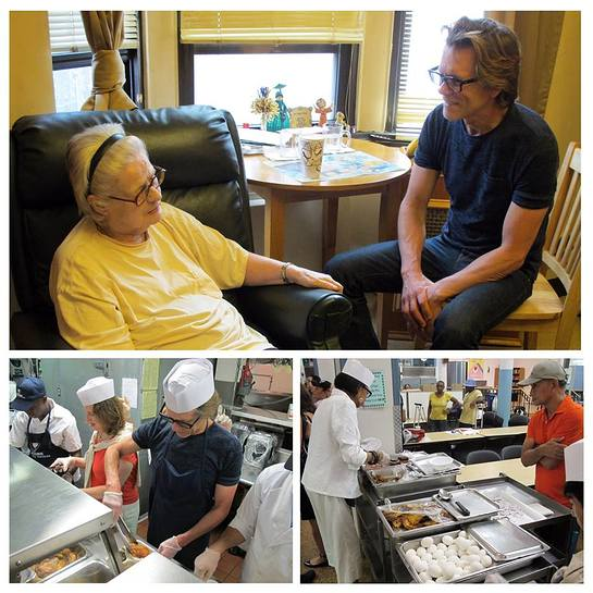 Kevin Bacon Delivers Food To The Elderly